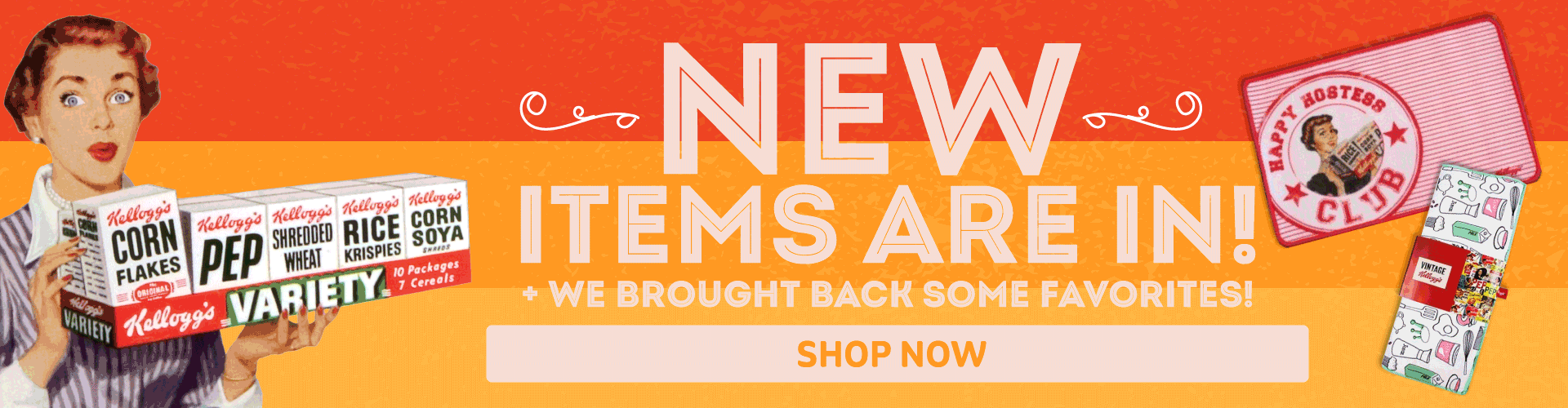 NEW and back in stock items are here