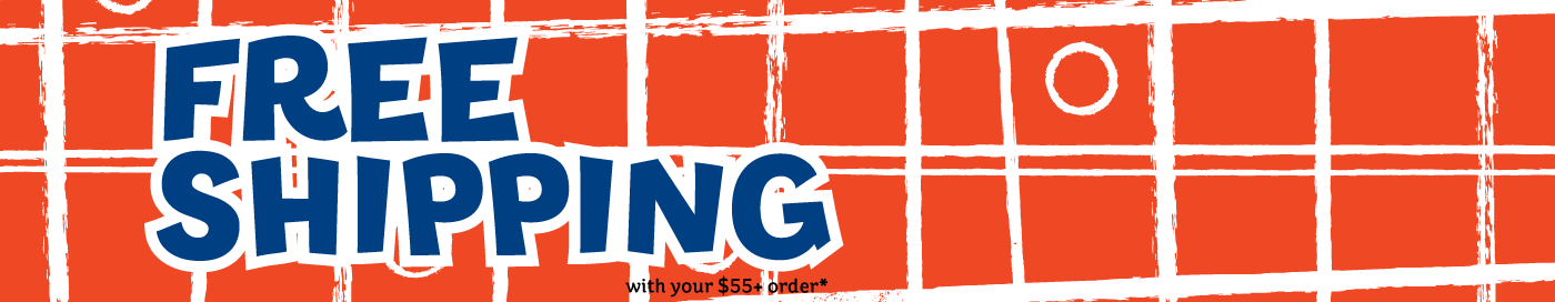 Free shipping on your $55+ order!
